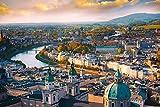 DesFoli Salzburg Österreich Stadt Skyline Poster