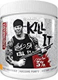 Rich Piana 5% Nutrition Kill IT Preworkout Drink Powder w/Creatine, Jitter-Free Caffeine, NO-Booster, Beta Alanine for Focus, Pump, Endurance, Recovery, 13.23 oz, 30 Servings, (Push Pop)