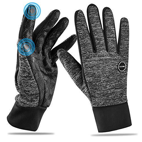 HOOMIL Winter Gloves for Men and Women, 2020 Classic Style Touchscreen Running Gloves Outdoor Sports Driving Cycling Windproof Warm Gloves