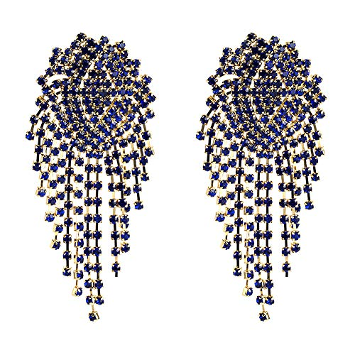 Outflower. Mesh Quaste Ohrringe Diamantklaue Kette EuropäIsche Amerikanische üBertriebene Ohrringe - BohèMe-Stil