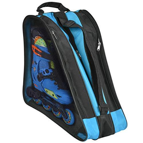 OFNMY Unisex Script Skate Bag Stofftasche Schlittschuhtasche mit Henkeln Rollschuhe Ice Skate Tasche