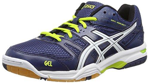 ASICS Gel-Rocket 7, Zapatillas de Voleibol para Hombre, Azul (Navy/White/Lime 5001), 42 EU