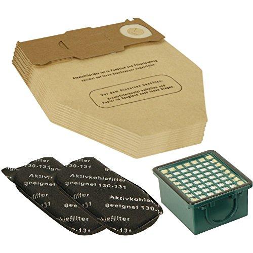 Lot de 10 sacs d'aspirateur + kit de filtres (1 filtre Hepa et 2 filtres moteur) pour Vorwerk Kobold 130, 131 SC/FP, VK 130 et VK131