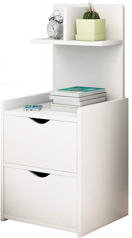 GJM Shop Bedside Table Simple Modern High Back Practical Type Bedroom Bedside Cabinet Economic Type Storage Cabinet (color   2, Size   Double Layer)