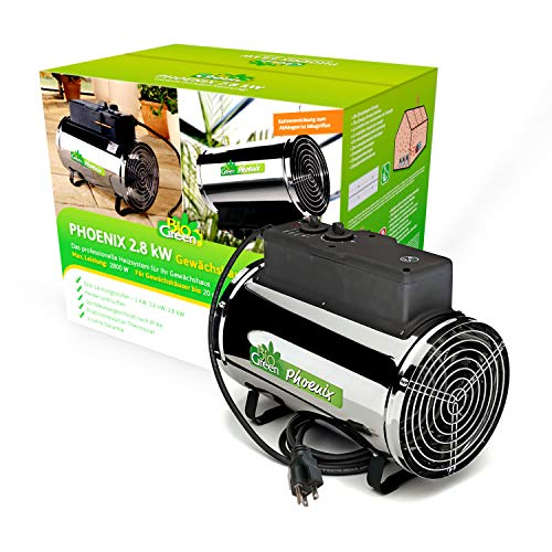 Biogreen PHX 2.8/GB Phoenix Electric Fan Heater 1.0/ 1.8 /2.8KW