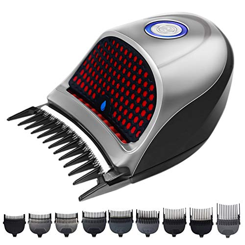 Hair Clippers for Men Barbers Professional Cordless Beard Trimmer Hair Cutting Machine Shortcut Self-Haircut Kit with 9 Combs, Cleaning Brush, Storage Pouch, Sponge or Oil (US STOCK)