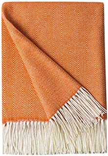 Bourina Decorative Herringbone Faux Cashmere Fringe Throw Blanket Lightweight Soft Cozy for Bed or Sofa Farmhouse Outdoor ...
