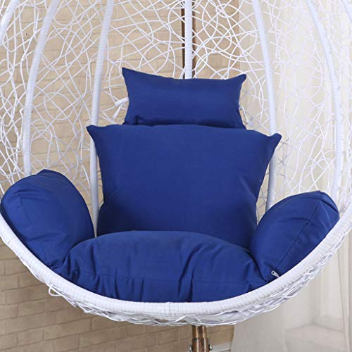 GOPG Hanging Basket Hanging Egg Chair Seat Cushion, Indoor and Outdoor Detachable Thicken Soft Cotton Hanging Mat Chair Cushion Cushion Back Cushion-Navy Blue