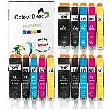 Colour Direct Compatible 570 571 Cartuchos para Canon Pixma MG5750 MG5751 MG5752 MG5753 MG6850 MG6851 MG6852 MG6853 MG7750 MG7751 MG7752 MG7753 PGI 570XL CLI 571 XL impresoras 3 Conjuntos (15 Tinta)