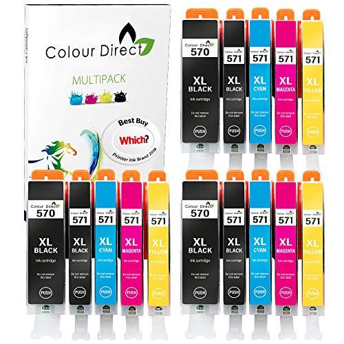 Colour Direct PGI-570XL CLI-571XL Reemplazo de Cartuchos de Tinta compatibles para Canon 570XL 571XL S5051 TS5050 TS5050 MG6851 MG5751 MG6850 TS6050 MG5753 MG6852 TS5053 TS6051-3 Juegos