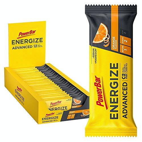 PowerBar PowerBar Energize Advanced Orange (25x55g) - Energie Riegel mit C2MAX, 25 Riegel