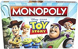 BASED ON THE TOY STORY FILMS: This family board game celebrates all four of the Toy Story films with character tokens, Andy's Toy Chest Cards and Birthday Cards PLAY AS A FAVORITE TOY STORY FRIEND: This Monopoly Game comes with 6 Toy Story character ...