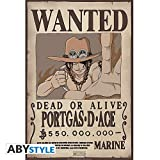 ABYstyle Abysse Corp_ABYDCO310 - Póster de One Piece Wanted Ace (52 x...