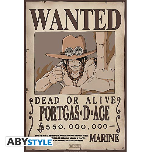ABYstyle Abysse Corp_ABYDCO310 - Póster de One Piece Wanted Ace (52 x 35)