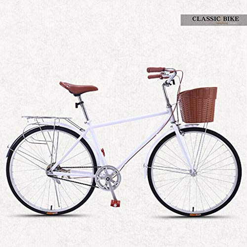 Bove Vintage 26 Inch Citybike Scheibenbremsen Stoßdämpfer Leicht Und Stabil Fahrrad Unisex-Single-Speed-G
