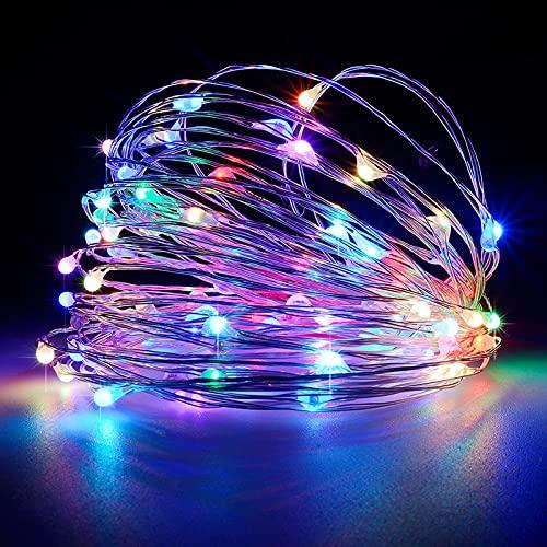 Luces solares al aire libre del jardín 8 modos impermeable cadena de luz interior/al aire libre luces de hadas alambre de cobre iluminación para patio Festival valla decoraciones de Navidad