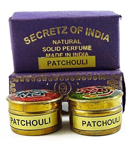 Patchouli naturel parfum solide Parfum corps musc naturel Mini Brass Jar 4g
