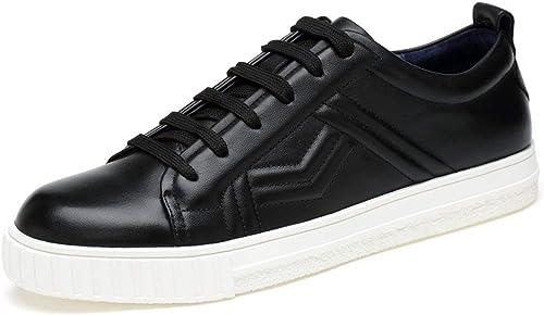 Qiusa Chaussures de Sport pour Hommes Hommes Hommes à Lacets à Lacets et à Bout Pointu pour Hommes Noirs UK 7.5 (Couleuré   -, Taille   -) ebb