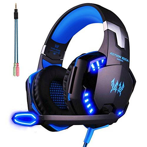 ArkarTech Cuffie Auricolare Gaming Gioco Headset G2000...