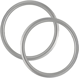 """UNISOAR Aluminium Baby Sling Rings for Baby Carriers & Slings 3"""" Large Size Silver Color 1 Pair with Gift"""