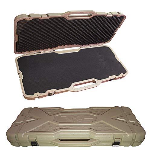 "Feng Lian Hard Rifle case Tactical Gun Shell AR Protective Shell, Available Length 36"" x 14"" x 3.5""with Foam (Sand)"