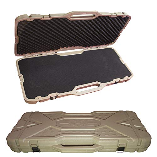 "Feng Lian Hard Rifle case Tactical Gun Shell AR Protective Shell, Available Length 36"" x 14"" x 3.5""with Foam (Sand)"
