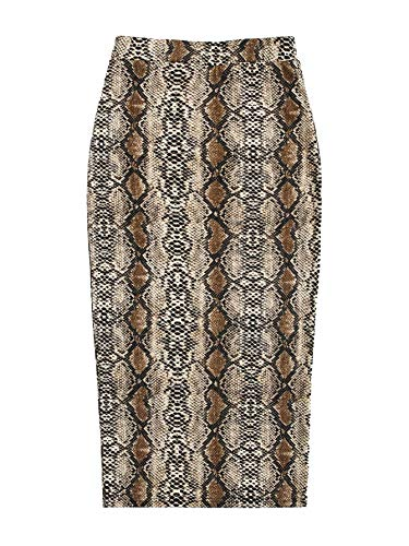 Floerns Women's Plaid Print High Waist Knee Length Bodycon Pencil Skirt Multicolor M