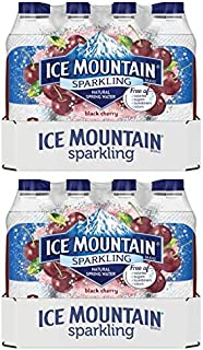 Ice Mountain Sparkling Water, Black Cherry, 16.9 fl. oz. Bottles (24 Ct) (Pack of 2)