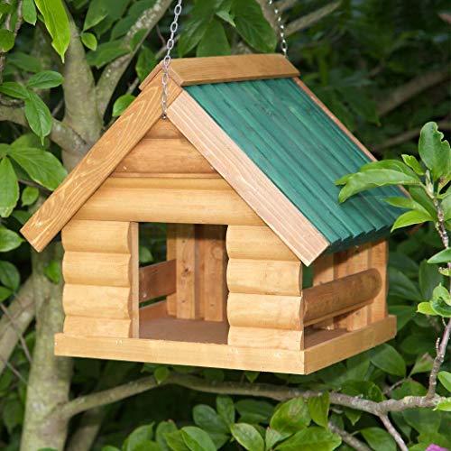 Fordwich Garden Hanging Bird Table Green Roof (Green)