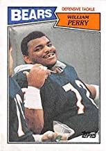 William Perry football card (Chicago Bears Super Bowl Champion Refrigerator) 1987 Topps #55