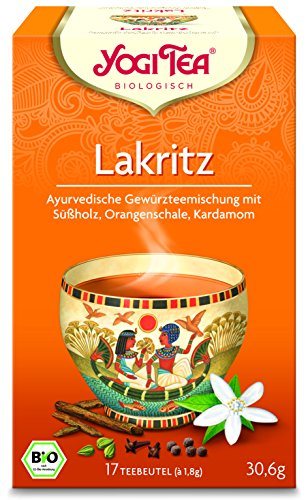 YOGI TEA Lakritz Tee 17 Btl. à 1,8g | Bio Beuteltee Lakritze