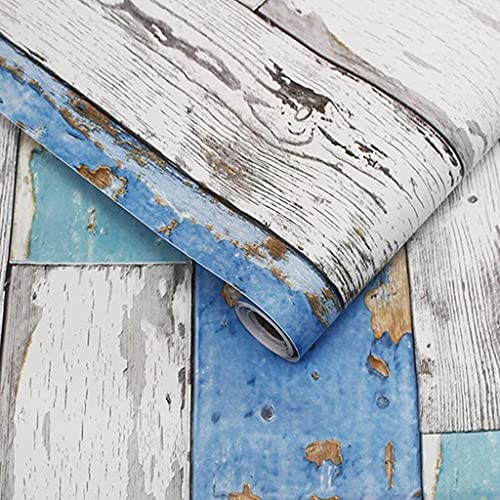 YWSZJ Pelada a Prueba de Agua y Palo de Madera Tablón de Madera Vinilo Autoadhesivo Wallpaper Design para Paredes Baño Dormitorio Dormitorio Decoración (Size : 45cmx600cm)