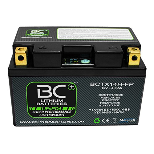 BC Lithium Batteries BCTX14H-FP Batería Moto Litio