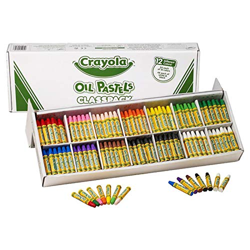 Crayola Oil Pastels Classpack, 12 Brilliant Opaque Colors,...