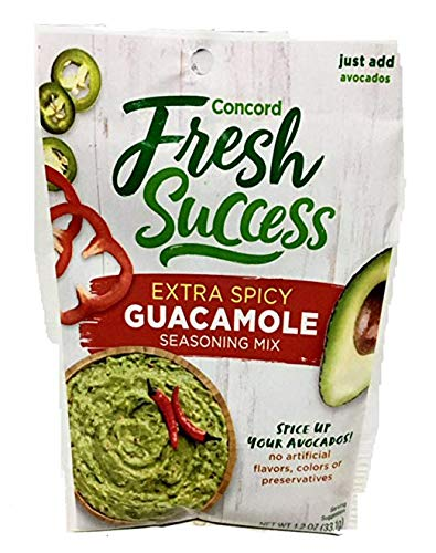 Concord Farms Extra Spicy Guacamole Mix, 1.2-ounce Pouches (VALUE Pack of 18 Pouches)