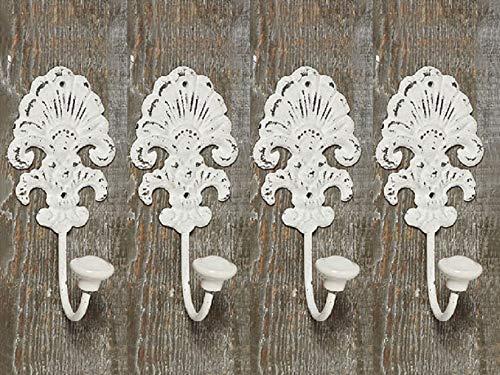 Tamia-Home Ganci Set Gancio da parete Nostalgia gancio di metallo 4429000, bianco, 4er Set Welle