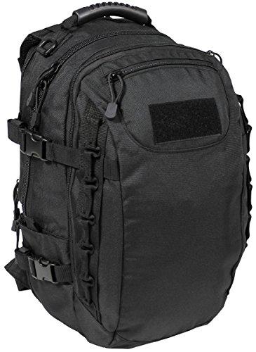 MFH US Army Rucksack Mission 30 40 Liter Geocaching Outdoor Wandern Trekkingrucksack Backpack viele Farben (Schwarz)