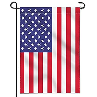 Anley Double Sided Premium Garden Flag, USA United States Decorative Garden Flags - Weather Resistant & Double Stitched - 18 x 12.5 Inch