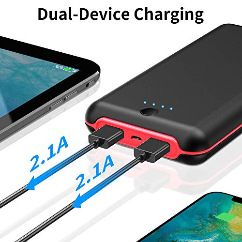 Portable Charger, 24000mAh High Capacity Power Bank with Dual 5V/2.1A USB Ports Battery Bank Charger for iOS, Android and Other Smartphones