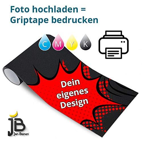 Jan Banan Skateboard Griptape Druck, individuell farbig Bedruckt mit Deinem Motiv, Foto oder Grafik