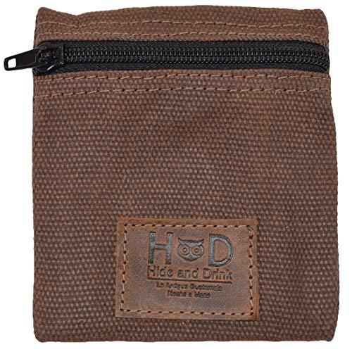 Hide & Drink, Wasserabweisende, gewachste Canvas-Kondom-Tasche, für Wertsachen und Geldbeutel, klassisches Partner-Geschenk, Reise- und Flitterwochen-Essentials, handgefertigt