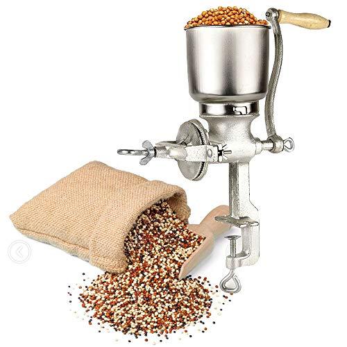 Getreidemühle, manuell, grob, fein einstellbar, handbetrieben, Weizenkörner, Samen, Nuss, Lebensmittelmaschine, Gewürze, Kräuter, Medizinische Kräuter, Kaffeemühle Pulverizer