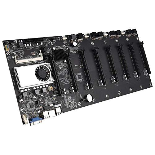 BTC-37 Mining Machine Motherboard, Bitcoin Crypto Etherum Mining Unterstützung, unterstützt 8 x PCIE16X Bildkartensteckplatz, DDR3 Speicher, VGA-Schnittstelle + Desktop-Mining-Motherboard (8 Karte)