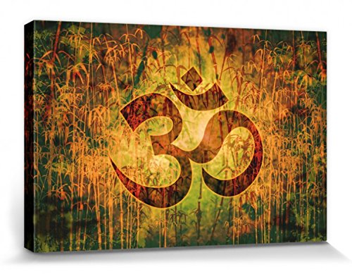 1art1 Espiritualidad - OM, Creación Y Energía Divina Cuadro, Lienzo Montado sobre Bastidor (30 x 20cm)