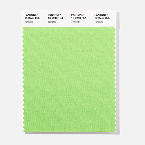 PANTONE 13-0240 TSX Polyester Color Swatch Card Tomatillo
