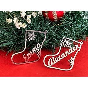 Weihnachtsstiefel Weihnachts-Geschenkanhänger, Personalisierte Weihnachtsanhänger Christbaumschmuck…