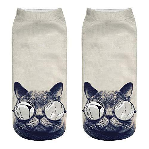 Hni Socken, 3D-Druck, für Katzen, Unisex, Schlafsocken, Fantasie, lustig, komfortabel