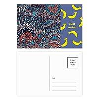 抽象的で赤いサークルラインアートコーンポピー花 ポストカードセットサンクスカード郵送側20個ミス