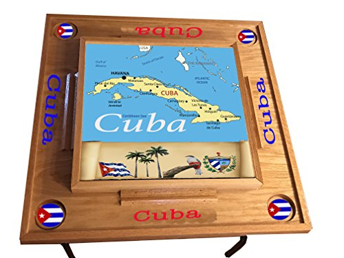 latinos r us Cuba Domino Table with Map Full top