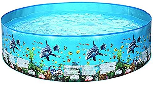hwljxn Diversión Play Pool Marine Patrón Familia Piscinas Piscina al Aire Libre Baldo Plegable Niños Agua Piscina Natación Portátil Elementos al Aire Libre Piscina Inflable (Color: 152x25cm a)